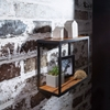 Picture of Wooden Floating Wall Shelf In iron Frame