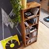 Picture of Solid Wood Book Shelf cum CD Rack