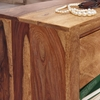 Picture of Solid Wood Sheesham Nightstand With 1 Drawer