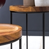 Picture of Solid Wood And Iron Set Of 2 Stool