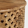 Picture of Solid Wood Round Carved Coffee Table