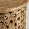 Picture of Solid Wood Round Carved End Table