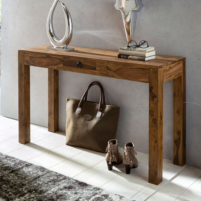 Picture of Solid Wood Sheesham Console Table With 1 Drawer