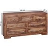 Picture of Solid Wood Sheesham Sideboard With 7 Drawers