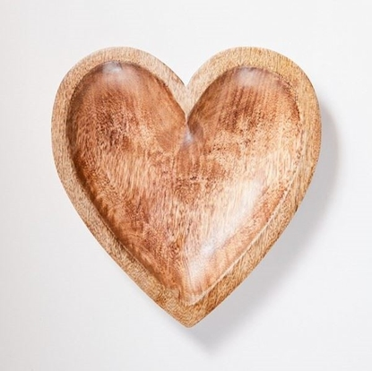Picture of Solid Wood Serving Heart Tray