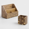 Picture of Wooden Desk Organizer with Pencil Cup