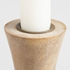 Picture of Flared Whitewash Wood Taper Candleholder