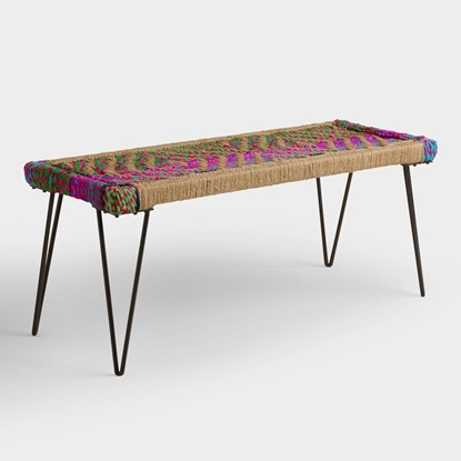 Picture of Woven Metal Bench