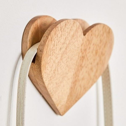 Picture of Wooden Heart Designed Hook
