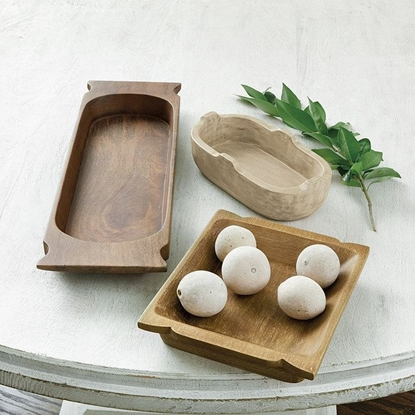 Picture of Solid Wood Serving Bowls