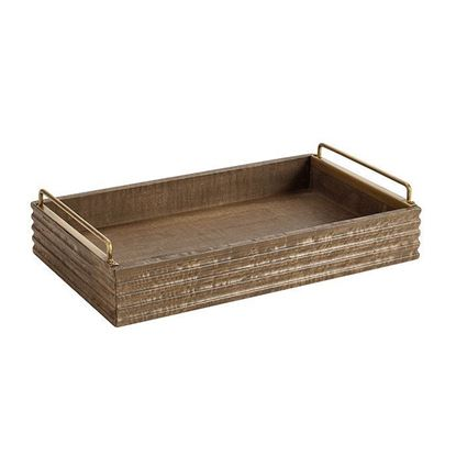 Picture of Solid Rustic Wood Tray by Woodenmood