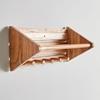 Picture of Wooden Multi-Hook Wall Shelf