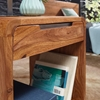 Picture of Solid Wood Sheesham Nightstand With 4 Massive Legs