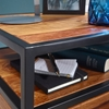 Picture of Solid Wood Side Table Framed In Iron Angles With 1 Drawer