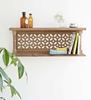 Picture of Brown Solid Wood Wall Shelf