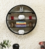 Picture of Metal Wall Shelf In Black Colour