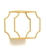 Picture of Metal Wall Shelf Set Of 3 in Gold Finish