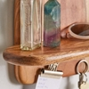 Picture of Wooden Floating Wall Shelf in Natural Finish
