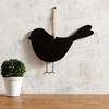Picture of Black Bird Shape Hanging Chalkboard