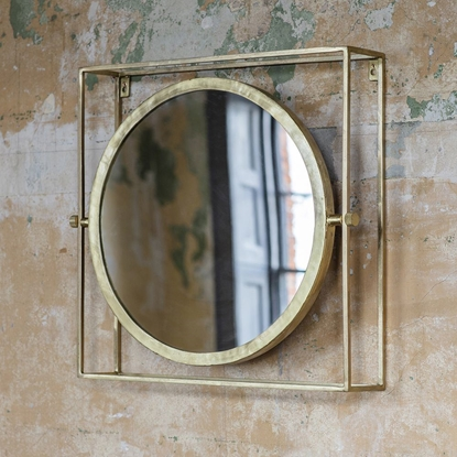 Picture of Circular Mirror Fixed In Squre Frame