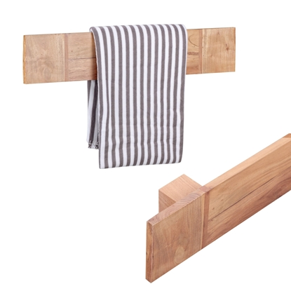 Picture of Wooden Towel Rack In Natural Finish