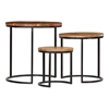 Picture of Solid Wood Round Set of 3 Nesting Table