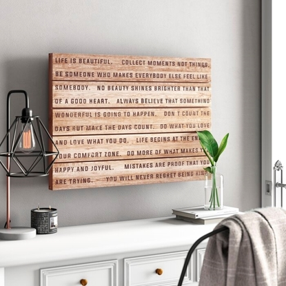 Picture of Solid Wood Amazing Life Art