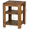 Picture of Solid Wood  Sheesham Side Table with  Storage