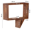 Picture of Solid Wood Sheesham Set of 2 Wall Shelves Shelf  with Shape