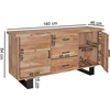 Picture of Solid Wood Sideboard with Live Edge Top And Iron Legs