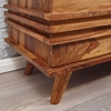 Picture of Solid Wood Sheesham Tv Unit With L Shaped Wooden Strips