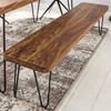 Picture of Solid wood Sheesham And Iron Arle Bench