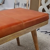 Picture of Solid Wood Upholstered Leather Bench With 1 Drawer