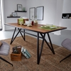 Picture of Solid Wood Sheesham Dining Table With Heavy Iron Stand