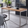 Picture of Solid Wood Sheesham Desk With Chromed Metal Frame
