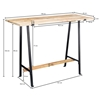 Picture of Solid Wood Console Table With Iron And Heavy Top