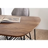 Picture of Solid Wood Sheesham Dining Table With triangular Iron Legs