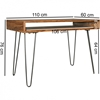 Picture of Solid Wood Sheesham Retro Design Desk With Iron Legs
