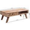 Picture of Solid Wood Coffee Table With Small Pieces Of Wood On Drawer