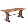 Picture of Solid Wood Sheesham Live Edge Dining Talbe with Iron Support