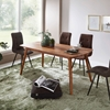 Picture of Solid Wood Sheesham Dining Table With Round Legs