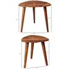 Picture of Solid Wood Sheesham Set Of 2 Side Table