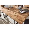 Picture of Solid Wood Dining Table With Multiple Bocks Of Mix Wood