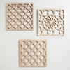Picture of Wooden Wall Art Set Of 3 Each Designed Differently