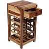 Picture of Solid Wood Sheesham Wine Rack With 1 Drawer