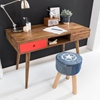 Picture of Solid Wood Sheesham Retro Design Desk With 2 Drawer