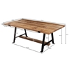 Picture of Solid Wood Coffee Table With Iron And Heavy Top