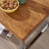 Picture of Solid Wood Sheesham Side Table Supported With 2 Metal Frame