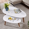 Picture of Solid Wood Set Of 2 Coffee Table With MDF Top