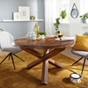 Picture of Solid Wood Sheesham Round Dining Table With Shuffled Legs